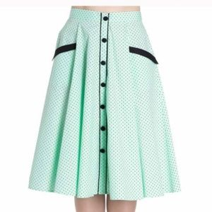 Retro Mint A Line Skirt